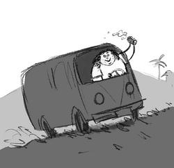 Херли в фургоне
